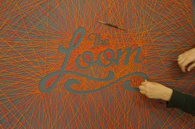 The Loom Apartments | commissioned weave project for foyer